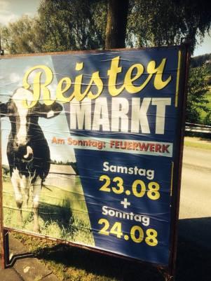 Am 4. Wochenende im August findet der sehenswerte Reister Viehmarkt statt.