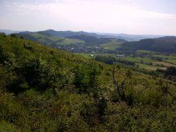 Blick vom Großen Sonnstück auf Grevenstein
