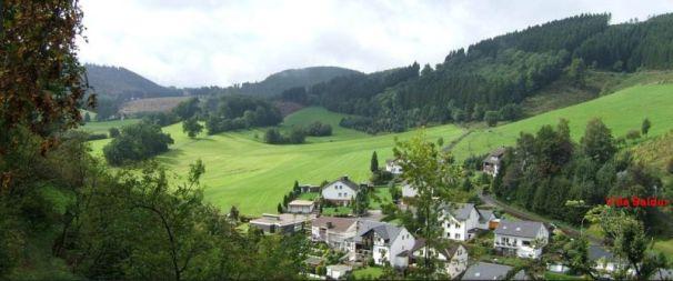 Blick auf Villa Baldur